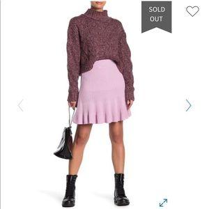 Free People Knit Ruffle Mini Skirt-